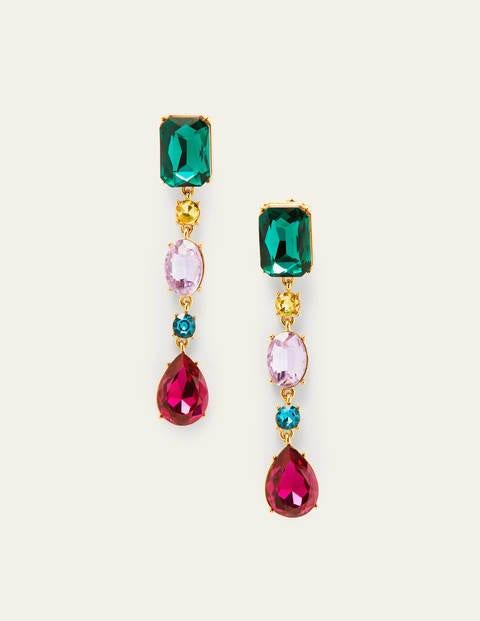 Jewelled Drop Earrings - Multi