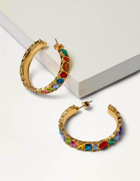 Jewelled Hoop Earrings