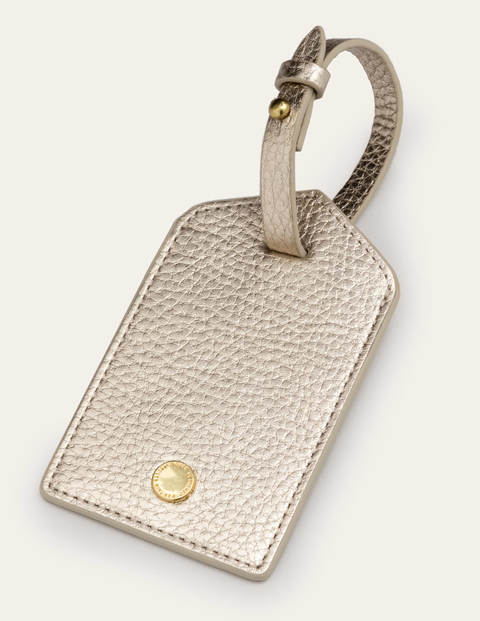 Luggage Tag - Pale Gold