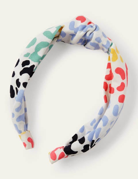 Knotted Headband - Multi Leopard