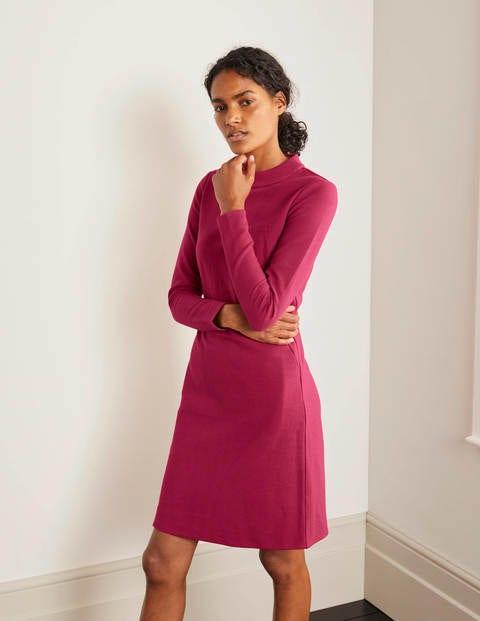 Henrietta Ottoman Dress - Warm Cranberry