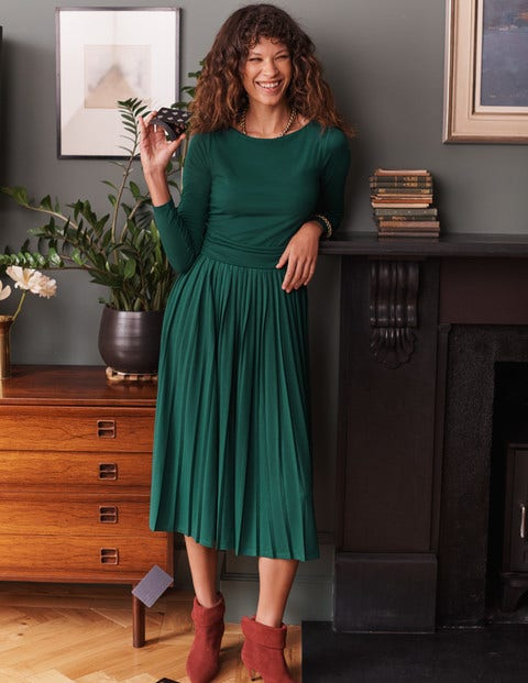Catherine Jersey Pleated Dress
