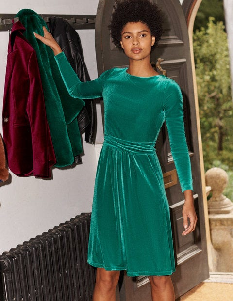 Abigail Velvet Dress - Wild Meadow