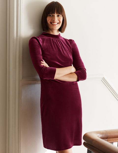 Livia Velvet Shift Dress