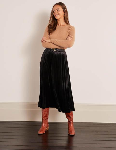 Roberta Velvet Skirt - Black