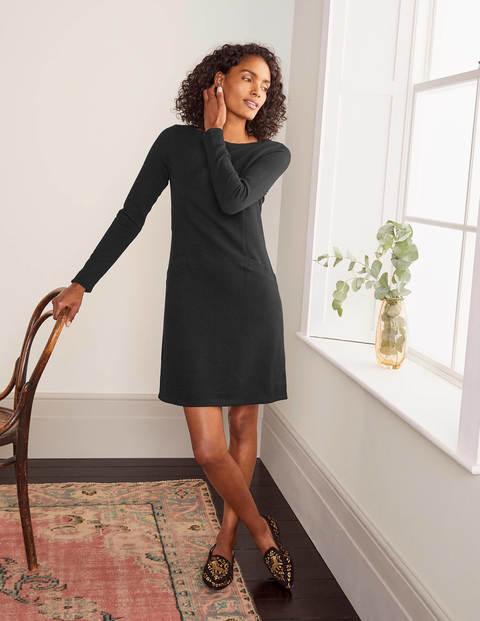 Ingrid Jacquard Shift Dress - Black