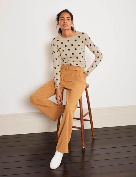 Eldon Cotton Jumper - Chinchilla, Linear Spot Small