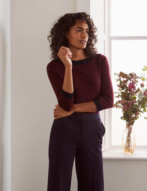 Gloucester Cotton Jumper - Maroon