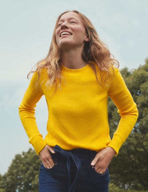 Rosslyn Fluffy Jumper - Maize