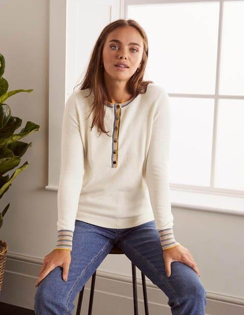 Marlborough Henley Sweater - Ivory
