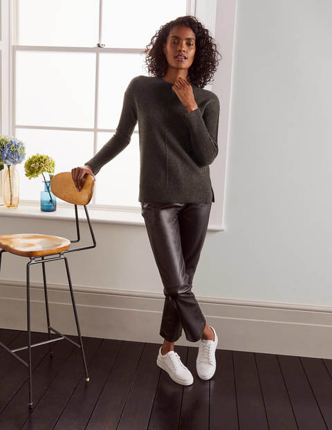 Derby Relaxed Cashmere Sweater - Charcoal Melange