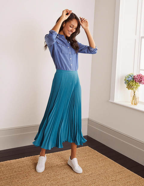 Kristen Pleated Skirt - Gemstone
