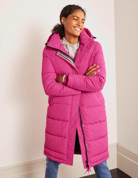Thompson Puffer Coat - Pink Flambé