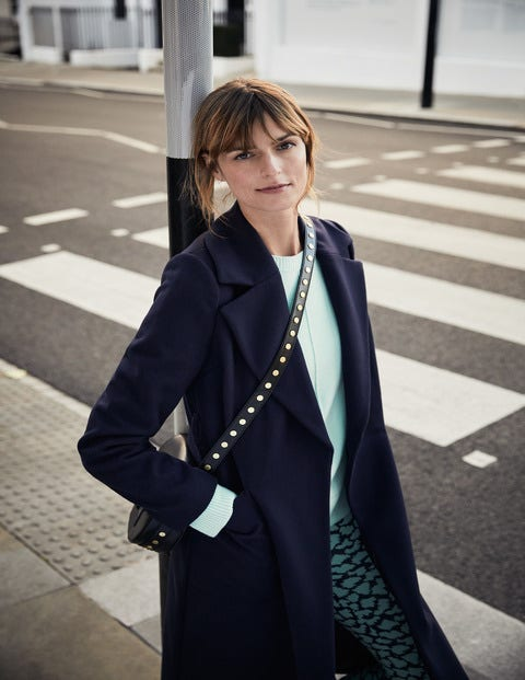 Edale Belted Coat - Navy