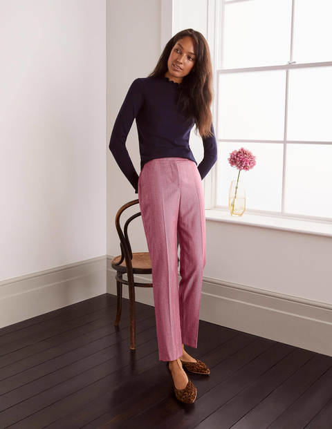 Kennford Tweed Pants - Pink Herringbone
