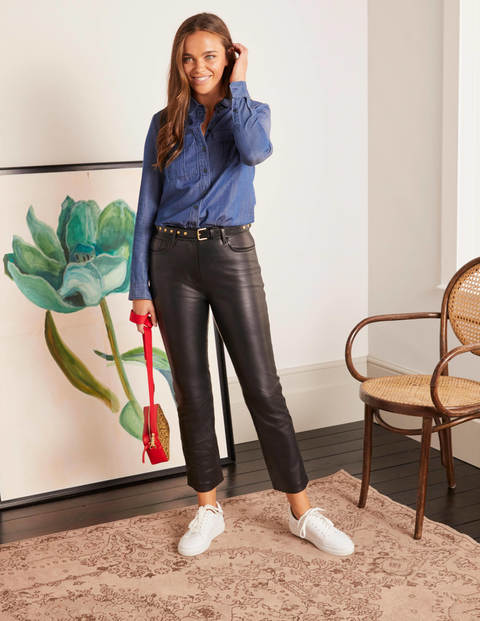Grosvenor Leather Pants - Black