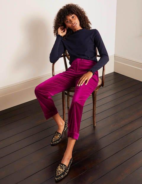 Siddal Velvet Pants - Jewel Purple