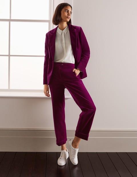 Siddal Velvet Trousers - Jewel Purple