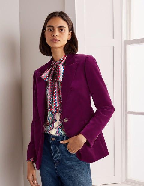 Siddal Velvet Blazer - Jewel Purple