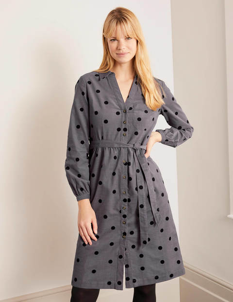 Olympia Shirt dress - Pewter, Scattered Spot