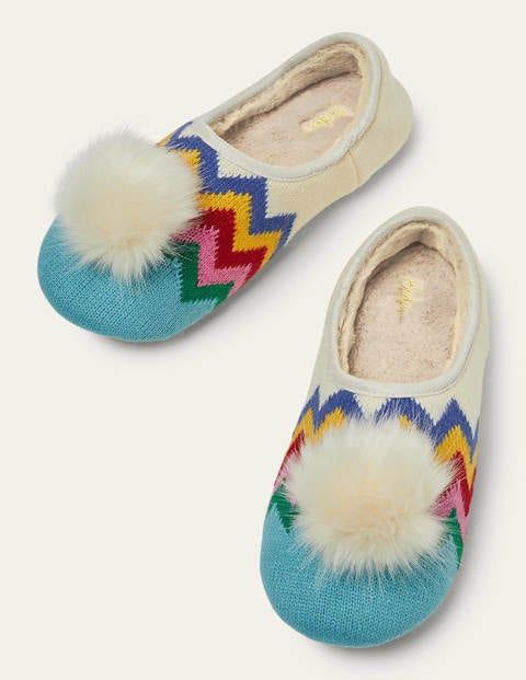 Pompom Mule Slippers