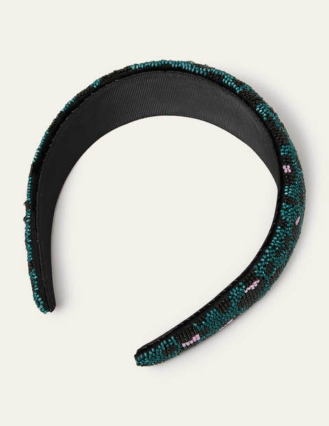 Beaded Headband - Deep Forest