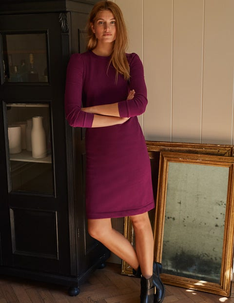 Puff Sleeve Sweatshirt Dress - Ruby Ring