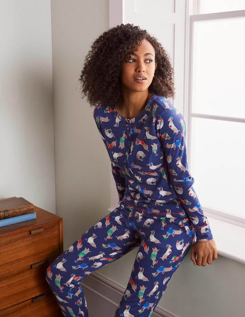 Alba Jersey Pajama Top - Starboard, Jolly Dogs