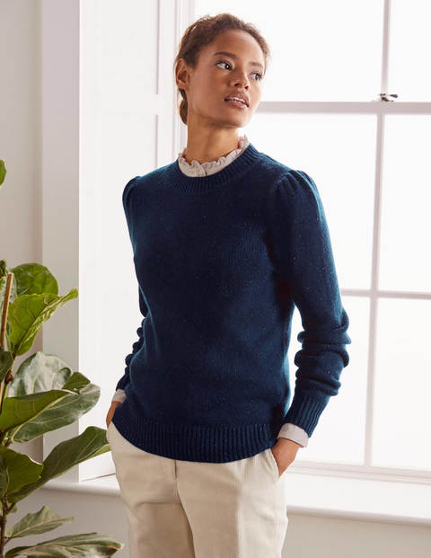 Beaufort Cashmere Sweater - Navy Nep