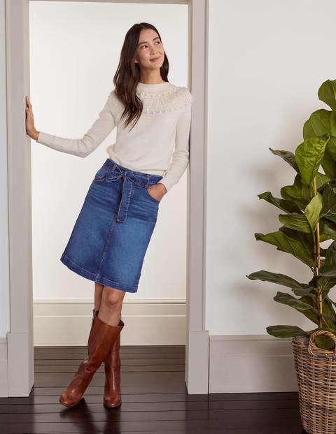 Jupe Julianne en jean - Denim vintage moyen (délavage moyen)
