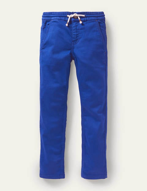 Schmal geschnittene Jersey-Jeans - Blitzblau