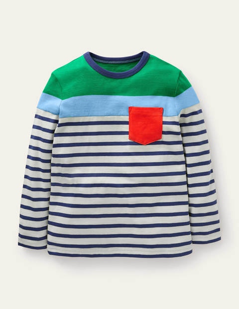 Bretonshirt mit Blockfarben