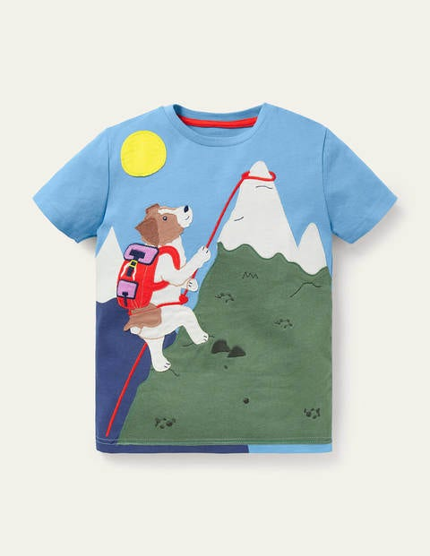T-Shirt mit Action-Applikation BLU Boden Boden, BLU