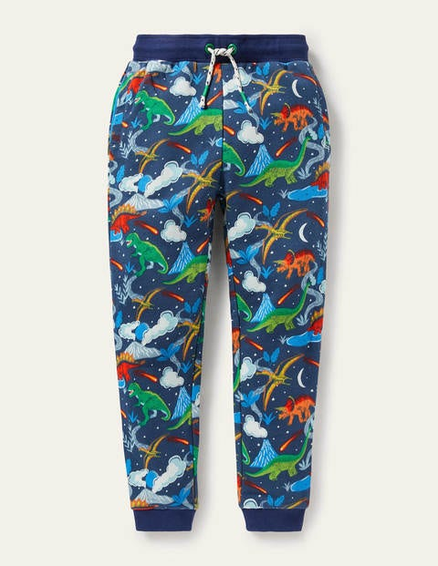 보덴 키즈 조거 팬츠 Boden Printed Joggers - Stormy Blue Dinosaurs