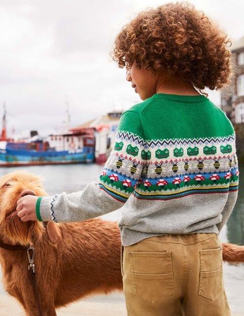 Fair Isle Crew Sweater