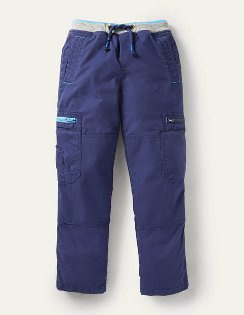 Cosy Lined Cargo Pants - College Navy