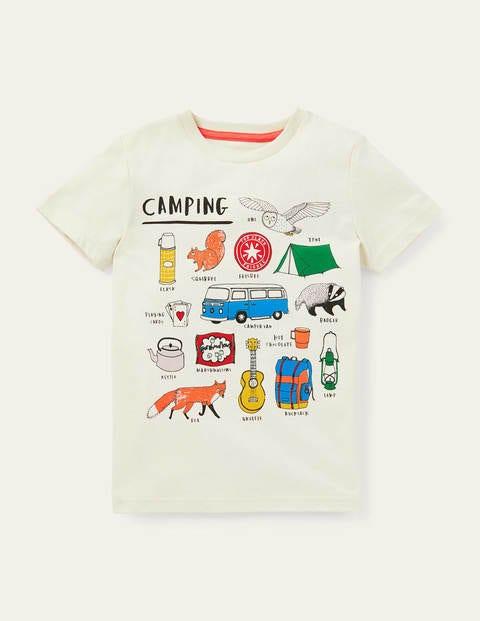 T-Shirt mit Campingmotiv