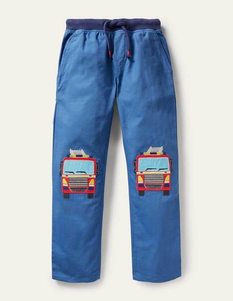 Appliqué Pull-on Pants