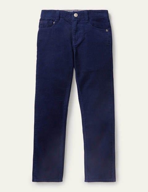 Slim Cord Stretch Pants - College Navy