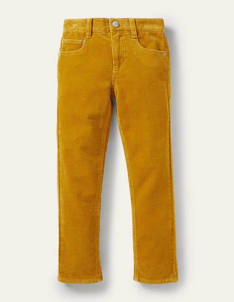 Slim Cord Stretch Pants - Honeycomb Yellow