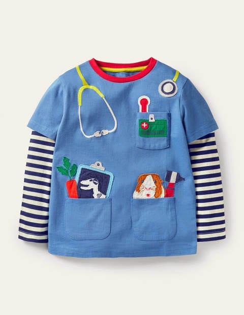 Occupational Appliqué T-shirt - Elizabethan Blue Vet