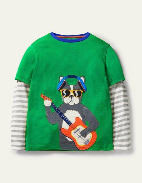 Layered Music Appliqué T-shirt