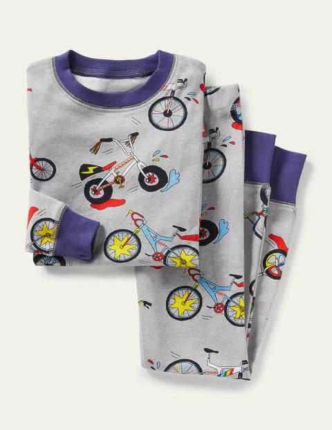 보덴 키즈 슬립웨어 세트 Boden Snug Long John Pyjamas - Grey Marl Bikes