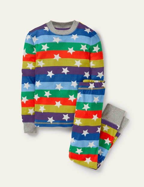 Snug Glow-in-the-dark Pyjamas - Rainbow Glowing Stars