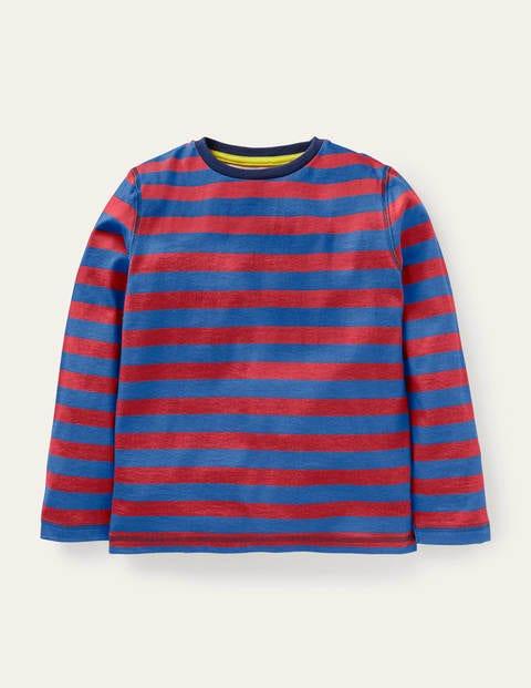 보덴 키즈 티셔츠 Boden Supersoft Long-sleeved T-shirt - Rocket Red/Elizabethan Blue