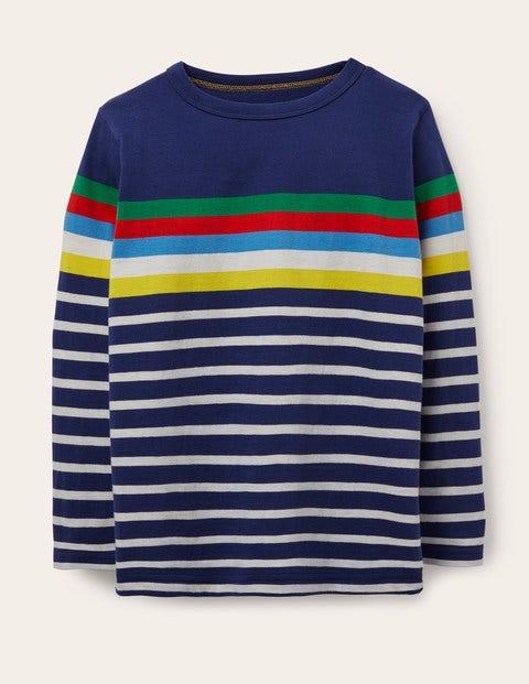 Fun Breton T-Shirt - Starboard/Ivory Rainbow