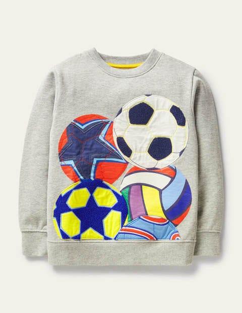 Sweatshirt mit Ballapplikation