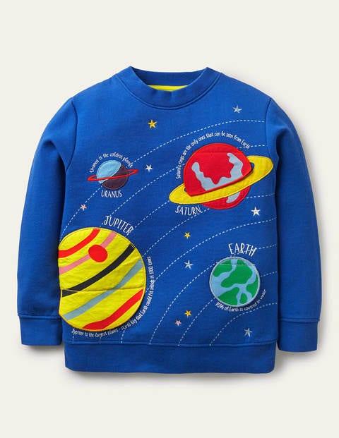 Lift-the-flap Space Sweatshirt - Brilliant Blue Space
