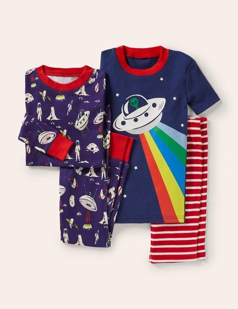 Space Twin Pack Pyjamas - Starboard Blue Space