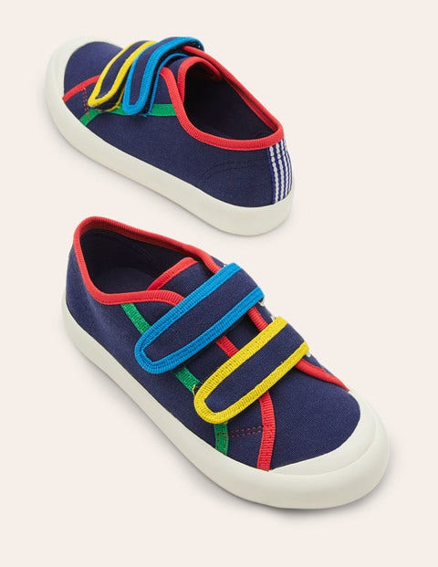 Canvas Low Top Sneakers - Starboard Blue Rainbow